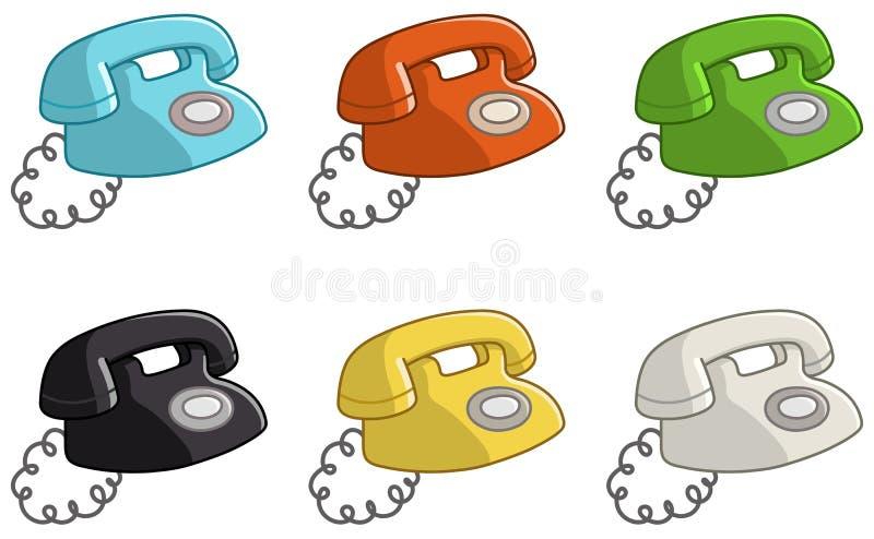 Altes Telefon stock abbildung
