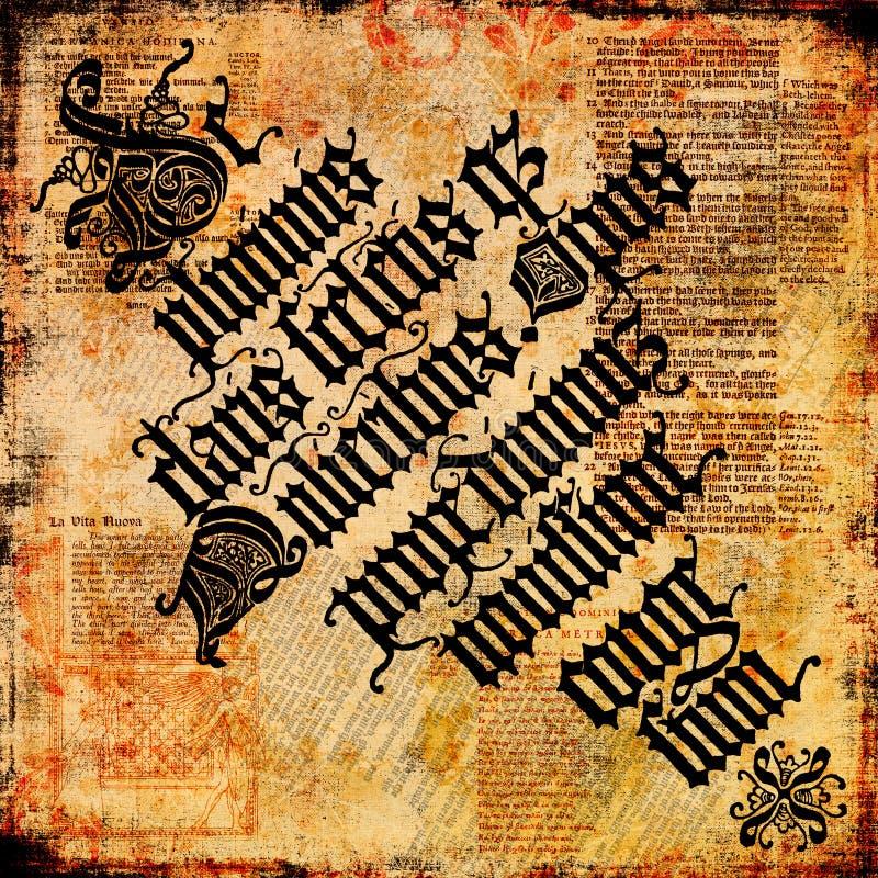 Altes Text-Pergament 4 - Grungy Hintergrund lizenzfreie abbildung