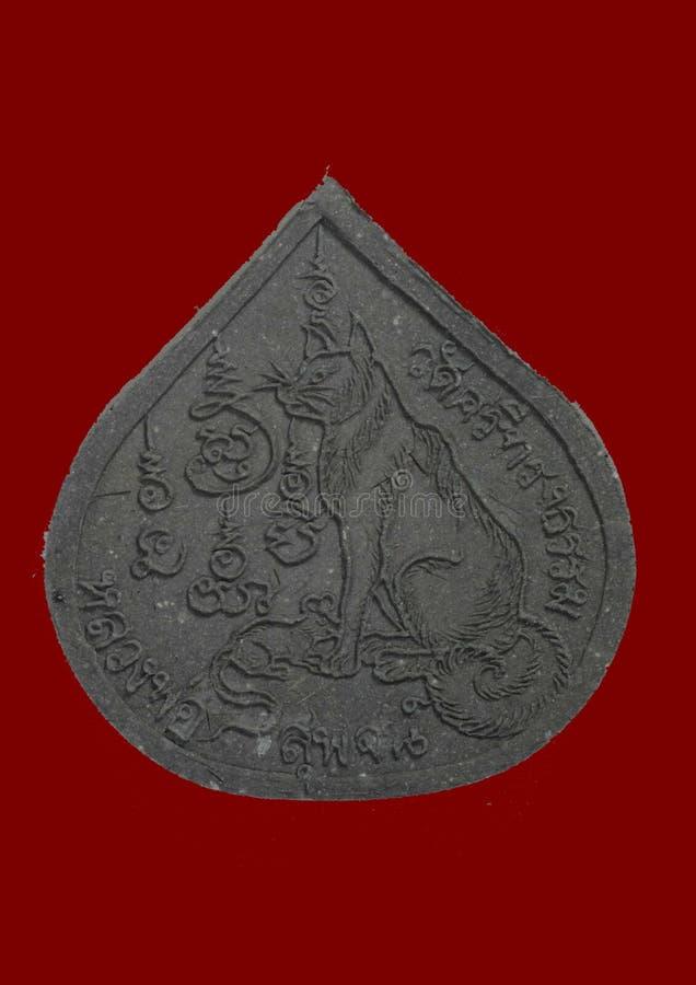 Altes thailändisches Amulett stockbild