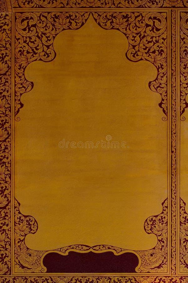 Altes thailändisches Muster auf Wand in Tempel Thailands Buddha, Asiats-Buddha-Artkunst, schönes Muster auf Tempelwand stockfoto