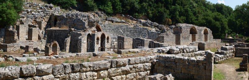 Altes Theater bei Butrint, Albanien stockbilder