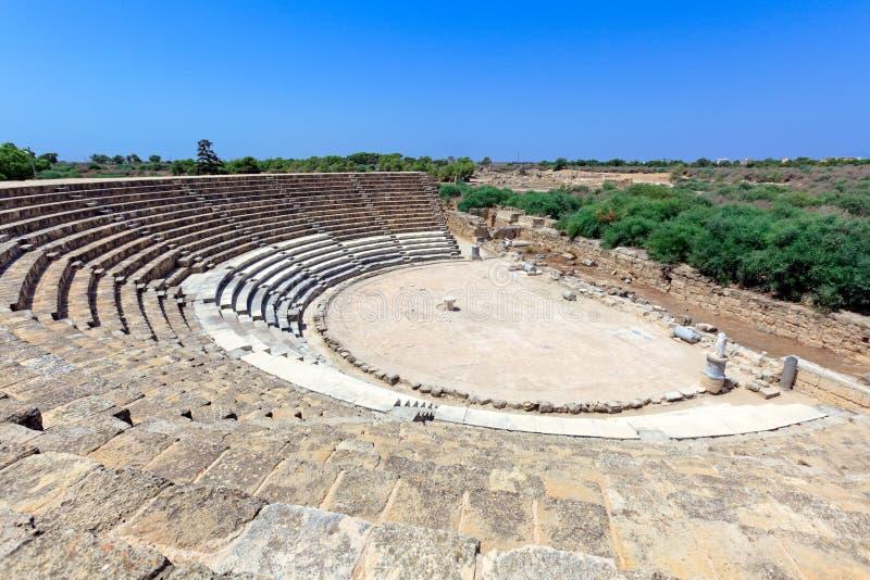 Altes Theater der Salamis lizenzfreies stockfoto