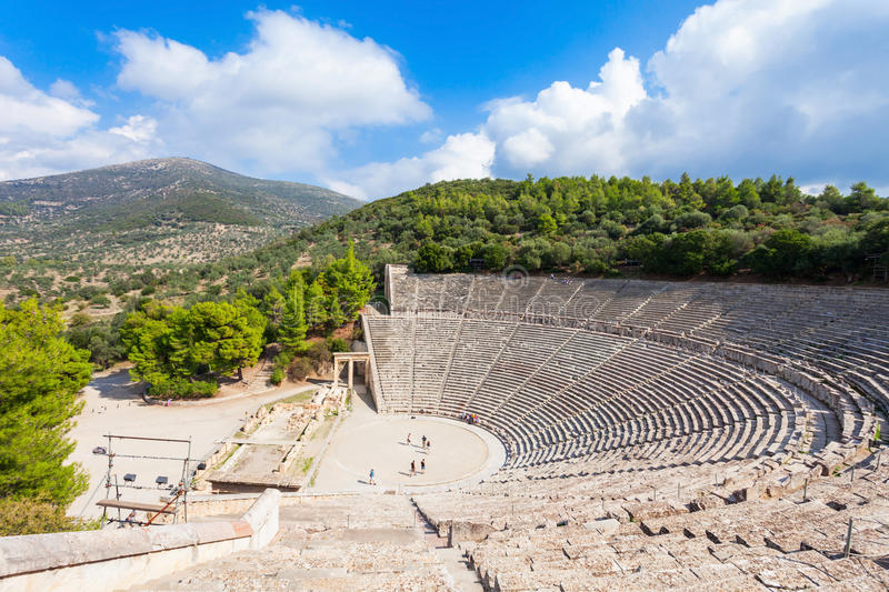 Altes Theater Epidaurus, Griechenland stockbilder