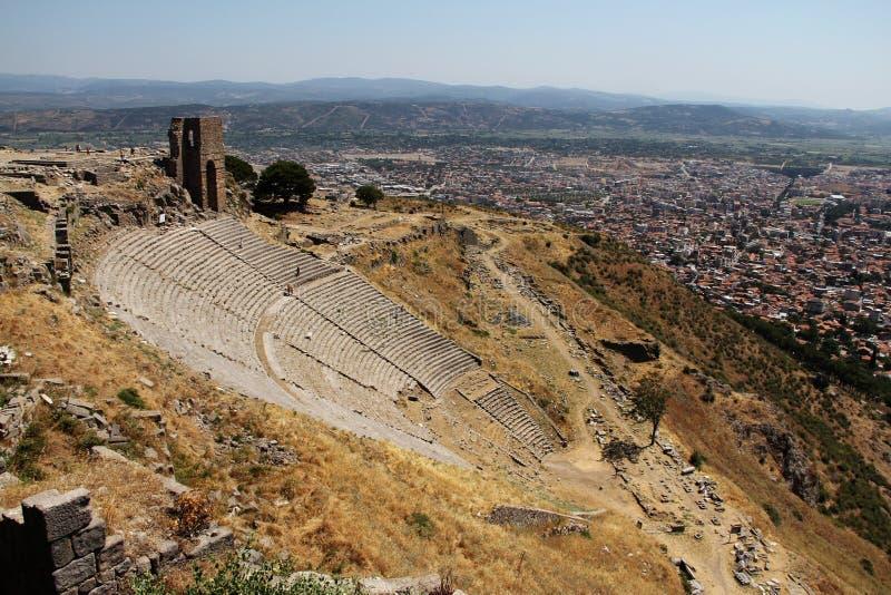Altes Theater Pergamons in Izmir, die Türkei stockbild