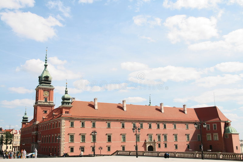 Altes Twown in Warschau stockbild