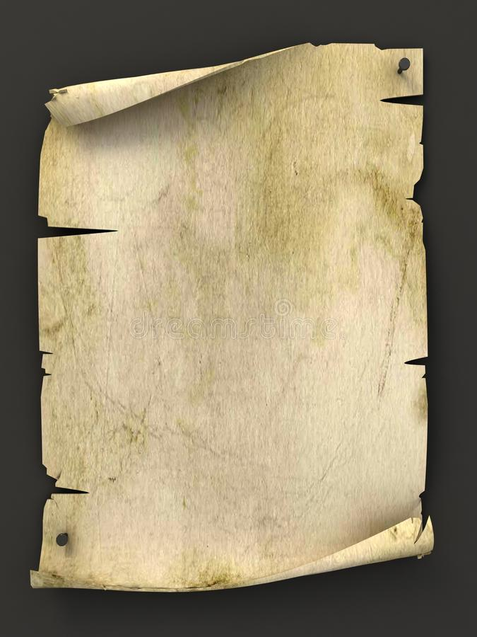 Altes unbelegtes Manuskript als Hintergrund vektor abbildung