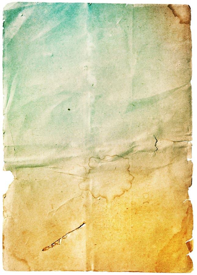 Altes unbelegtes Papier stockfoto