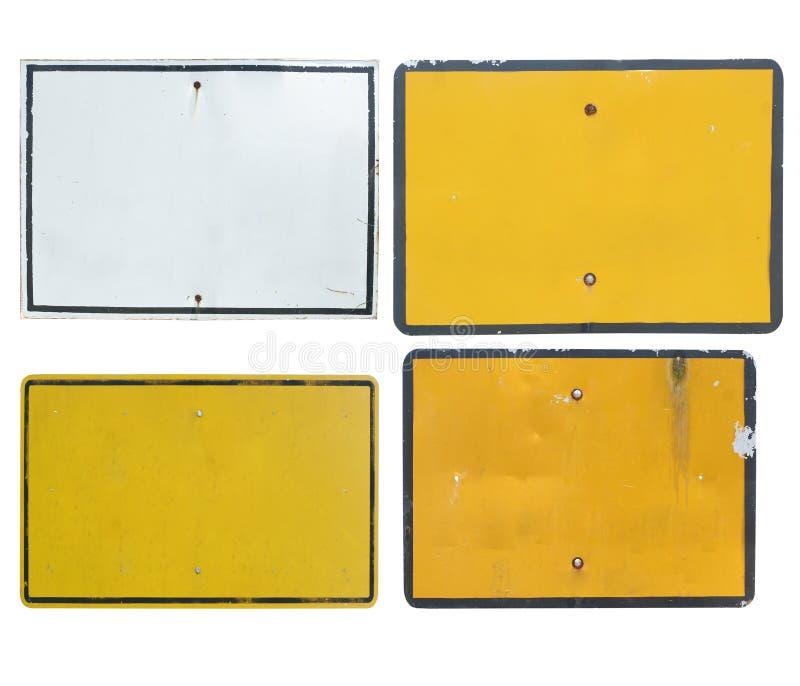 Altes unbelegtes Verkehrszeichen lizenzfreies stockbild