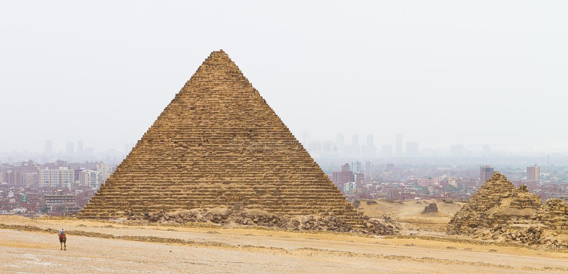 Altes und modernes Kairo lizenzfreies stockbild