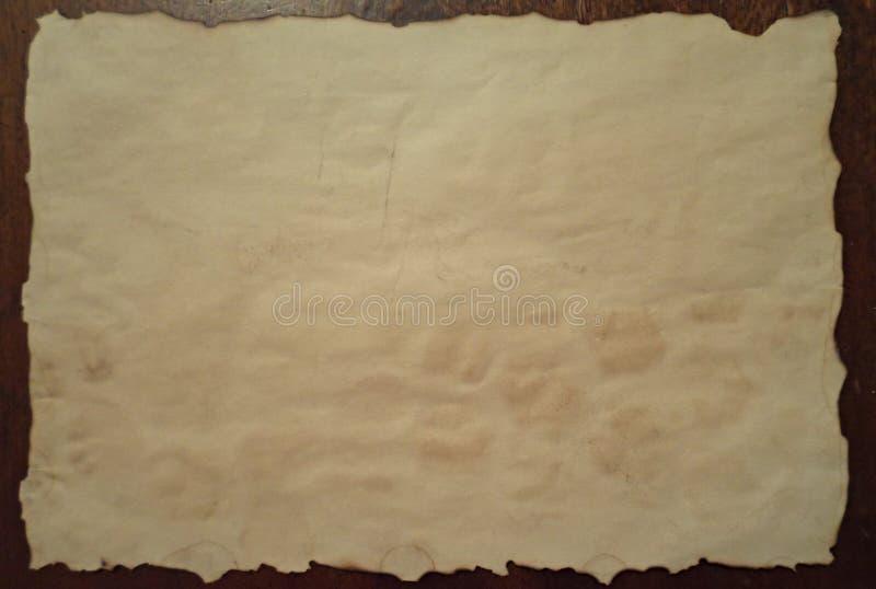 Altes und schmutziges Papier stockfoto
