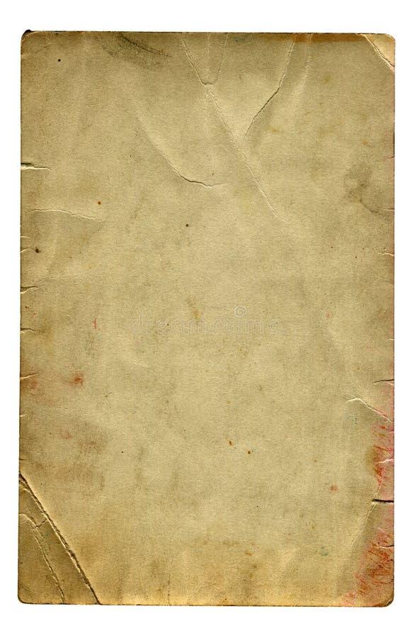 Weinlese-Papier lokalisiert lizenzfreies stockbild