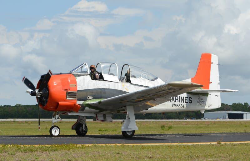 Altes US-Marinetrainingsflugzeug lizenzfreie stockfotografie