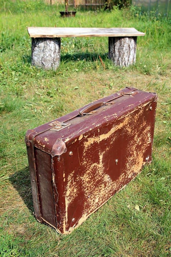 Altes valise lizenzfreies stockbild