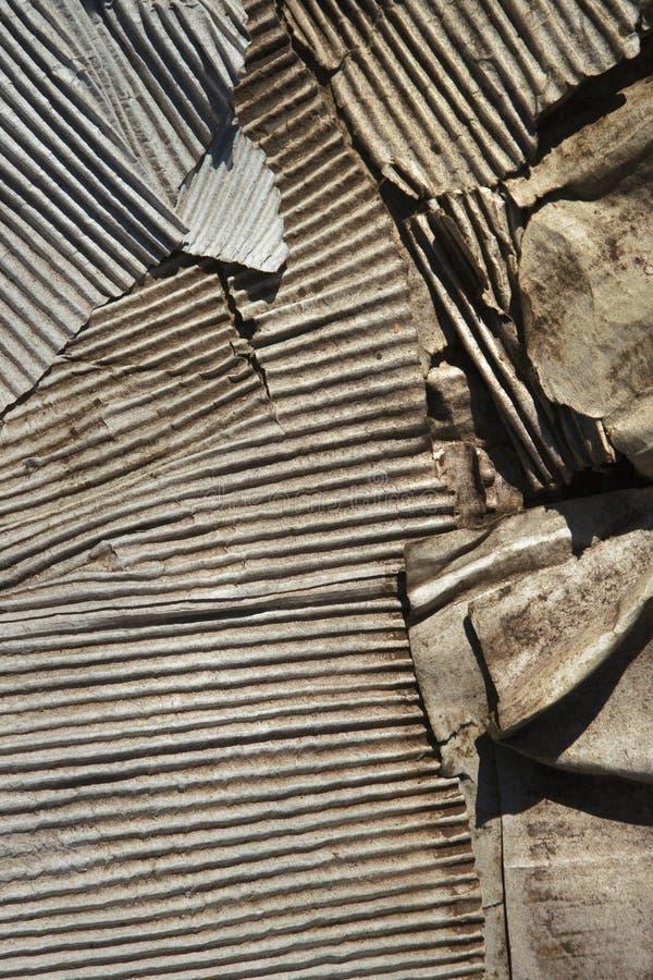 Altes verdrehtes Metall. lizenzfreies stockfoto