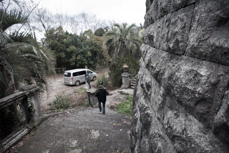 Altes verlassenes Hotel stockfotos