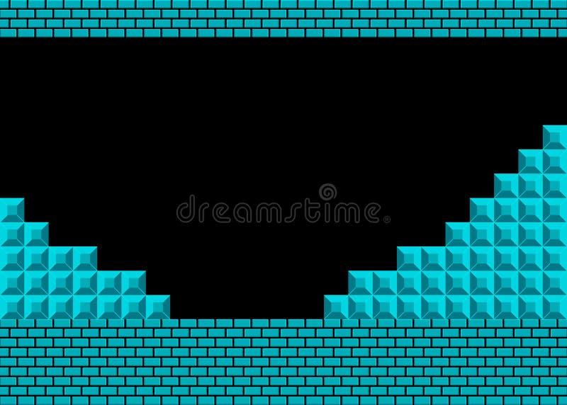 Altes Videospiel Retro- Arthintergrund Auch im corel abgehobenen Betrag lizenzfreie abbildung