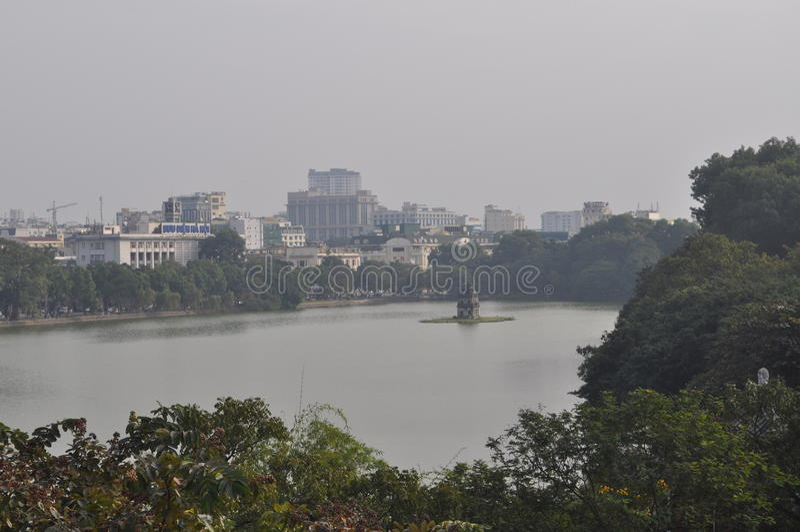 Altes Viertel des turtle See-- Hoan Kiem See-Hanoi stockfotos