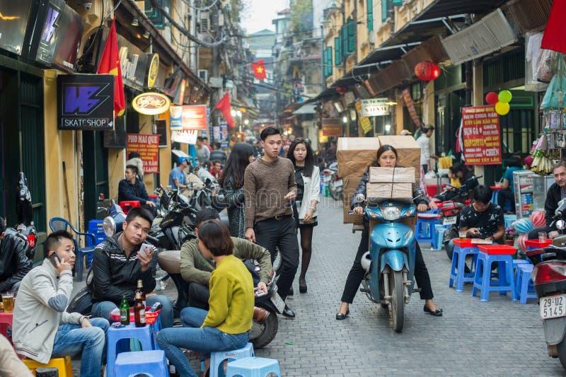 Altes Viertel von Hanoi stockbilder