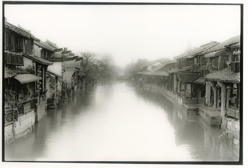Altes Wasserdorf Chinas stockbild