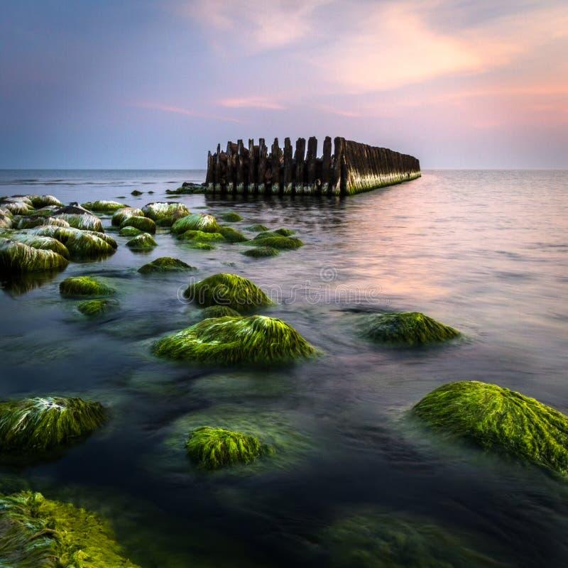 Altes waterbreak lizenzfreie stockfotografie
