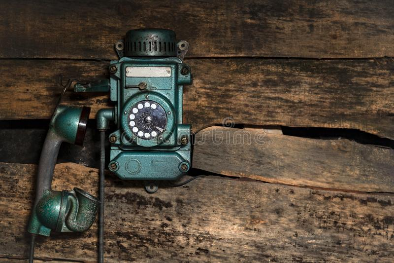 Altes Weinlese sity Telefon stockfotos