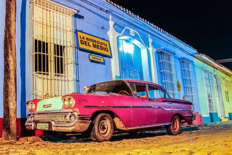Altes Weinleseauto Kuba Trinidad stockfoto