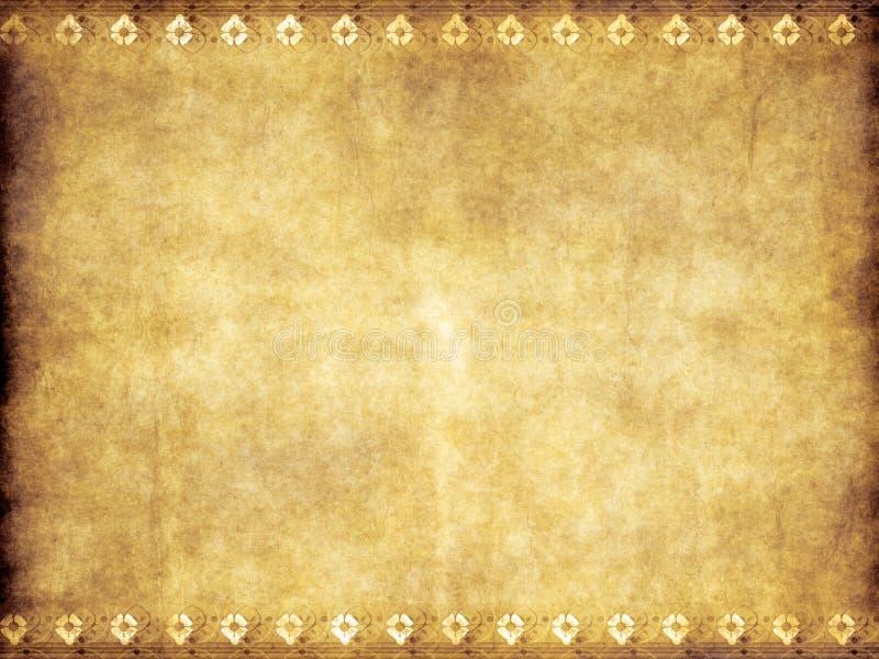 Altes Weinlesepergament des gelben Brauns vektor abbildung