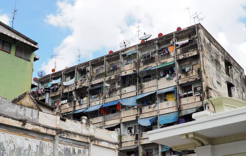 Altes Wohngebäude in Chinatown lizenzfreies stockbild