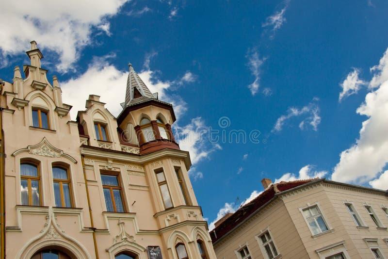 Altes Wohnungshaus in Chelmno. lizenzfreie stockfotografie