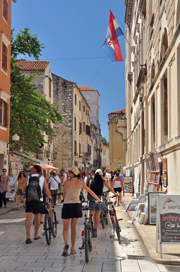 Altes Zadar stockfoto