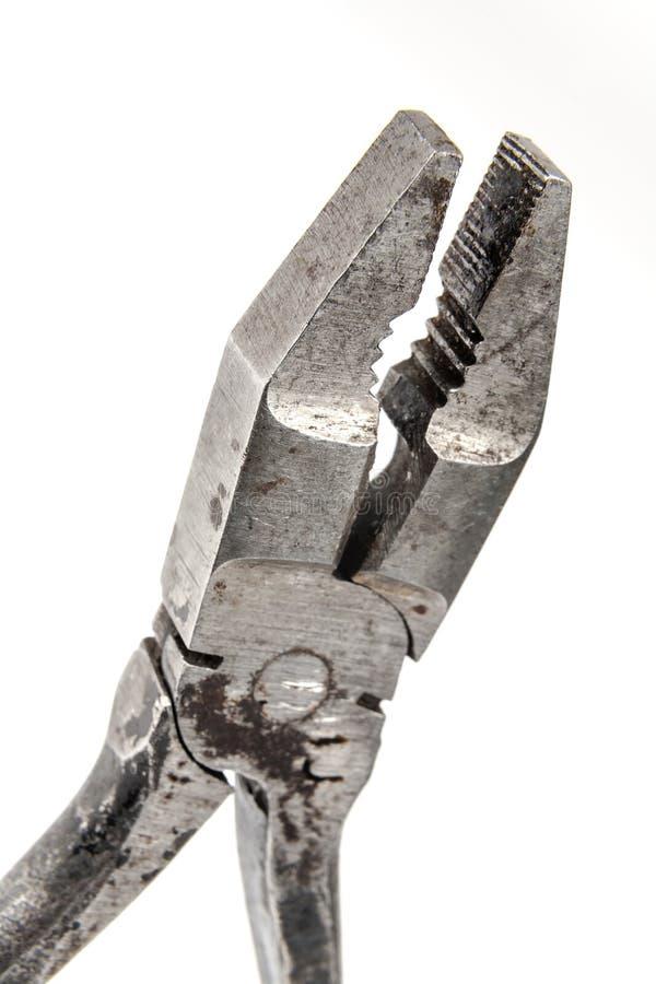 Altes Zangen- und Drahtschneiderelement stockfoto