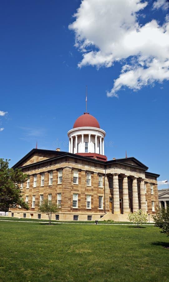 Altes Zustand-Kapitol in Springfield stockfoto