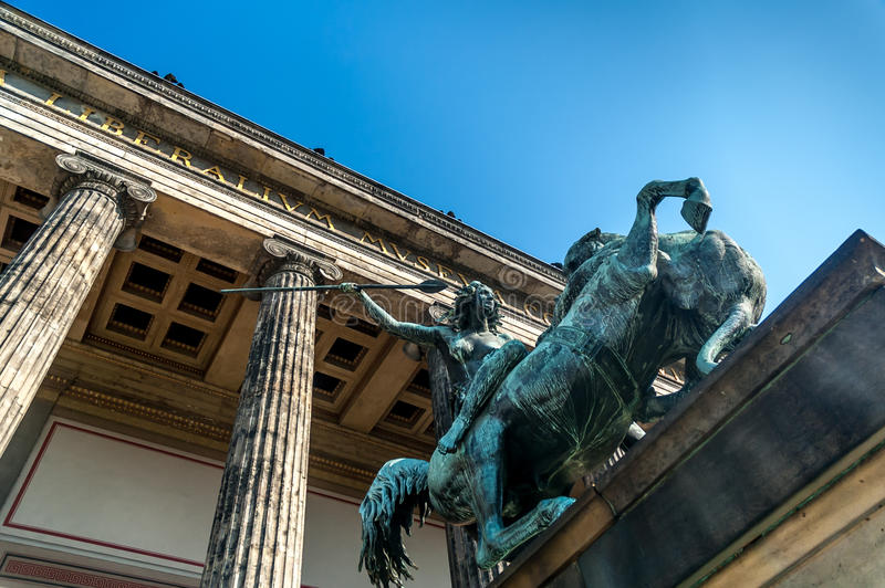 Altesmuseum (museu das antiguidade) imagens de stock royalty free