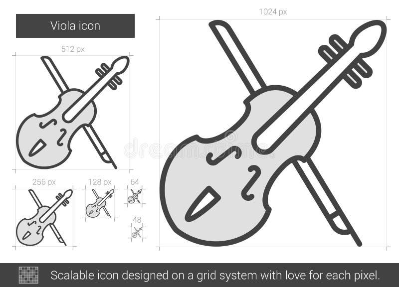 Altfiollinje symbol stock illustrationer