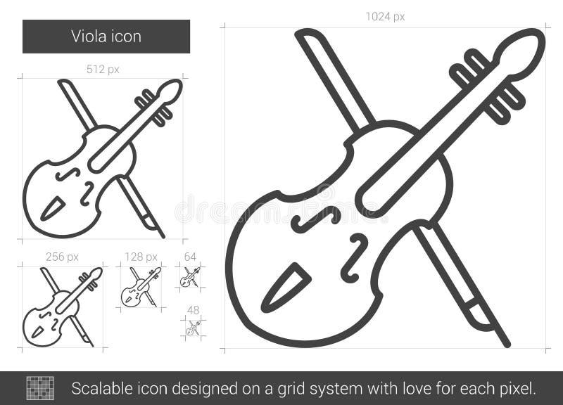 Altfiollinje symbol vektor illustrationer