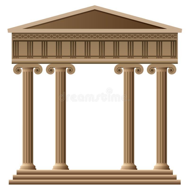 Altgriechische Architektur lizenzfreie abbildung