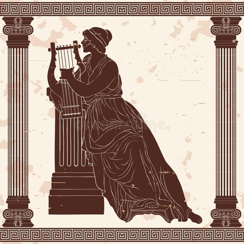 Altgriechische Frau vektor abbildung