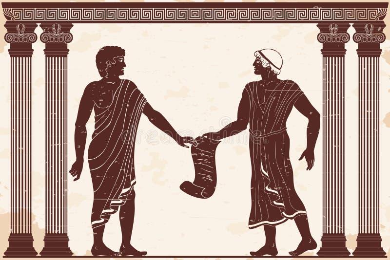Altgriechische Gerechtigkeit vektor abbildung