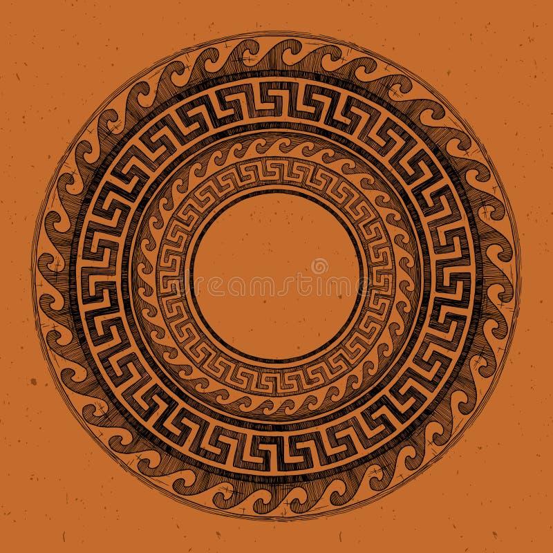 Altgriechische runde Verzierung vektor abbildung