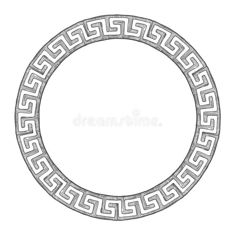 Altgriechische runde Verzierung stock abbildung