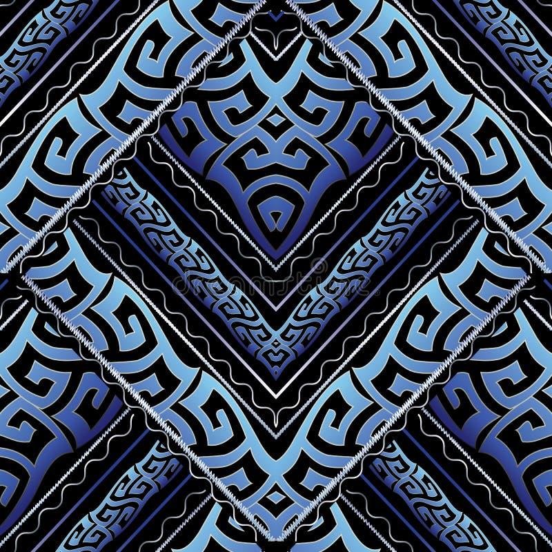 Altgriechische schlängelt sich nahtloses Muster Vektor abstraktes backgro stock abbildung