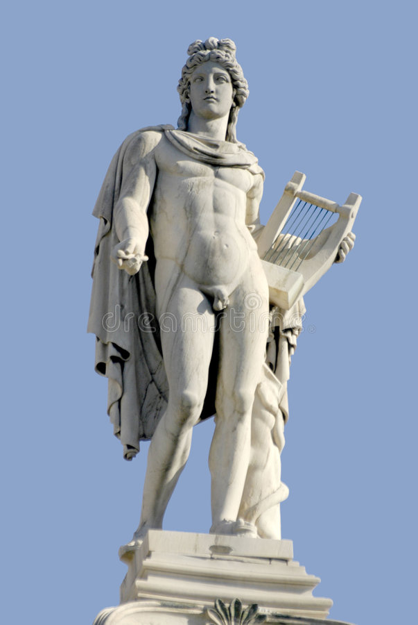 Altgriechische Statue stockfoto