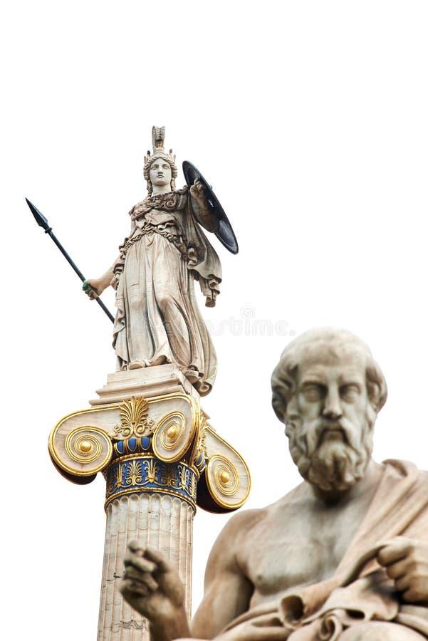 Altgriechischer Gott Athene stockbild