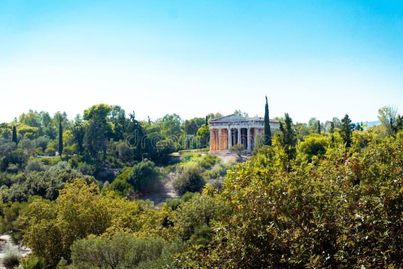 Altgriechischer Tempel des Gottes Hephaestus stockbilder