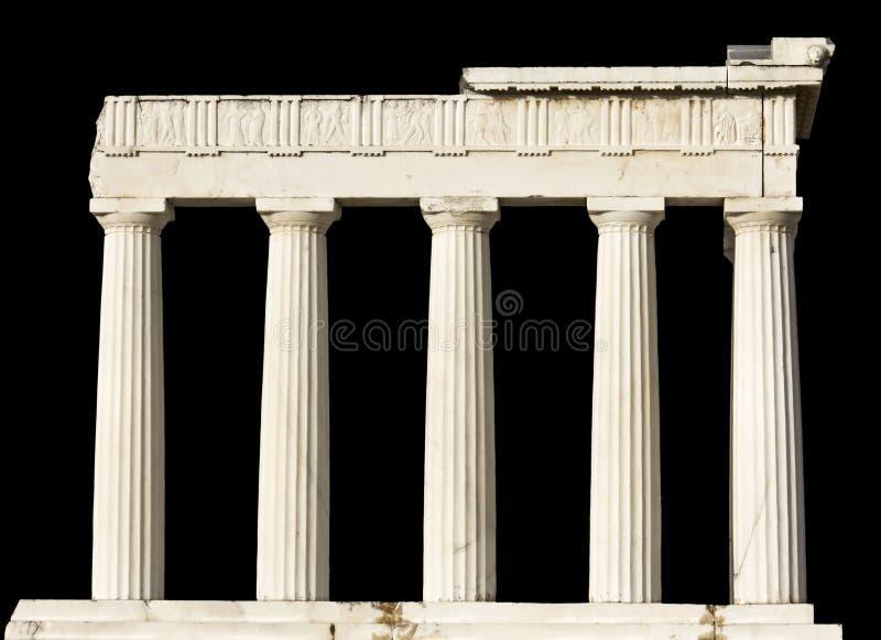 Altgriechischer Tempel trennte lizenzfreie stockbilder