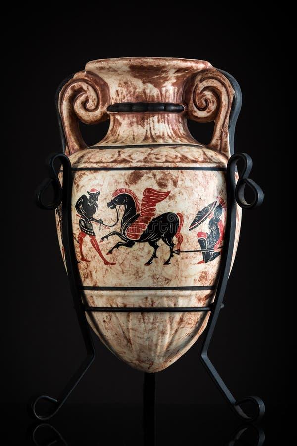 Altgriechischer Vase stockfotos