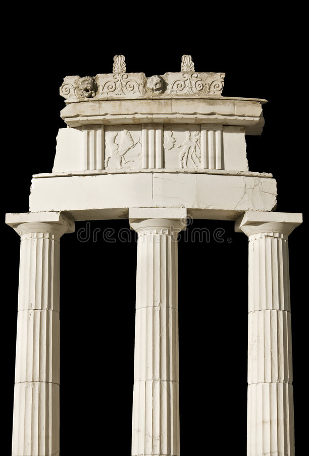 Altgriechisches Tempeldetail lizenzfreie stockfotos
