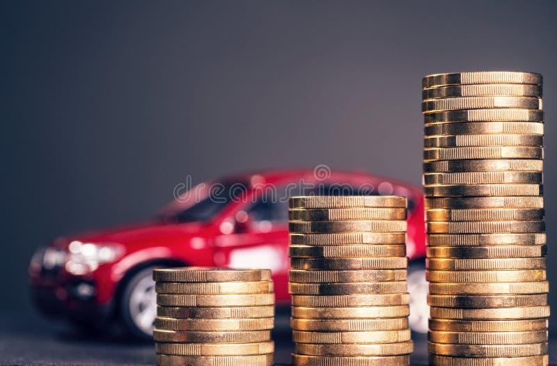Alti costi dell'automobile immagine stock