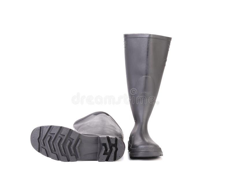 Alti stivali di gomma di paia fotografie stock libere da diritti