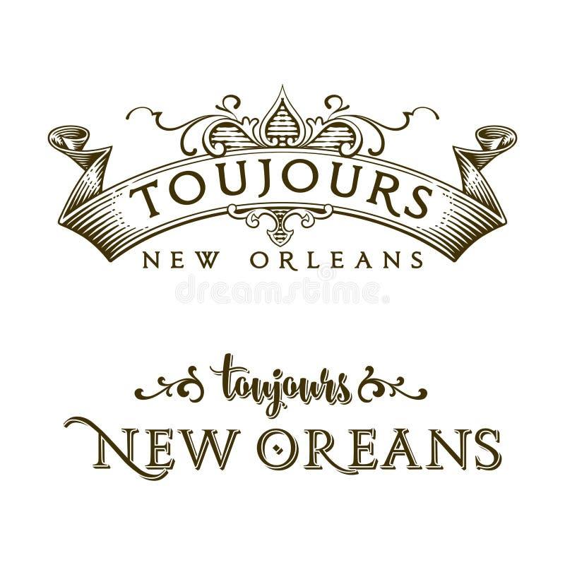 Altijd het Franse Kwart van New Orleans stock illustratie